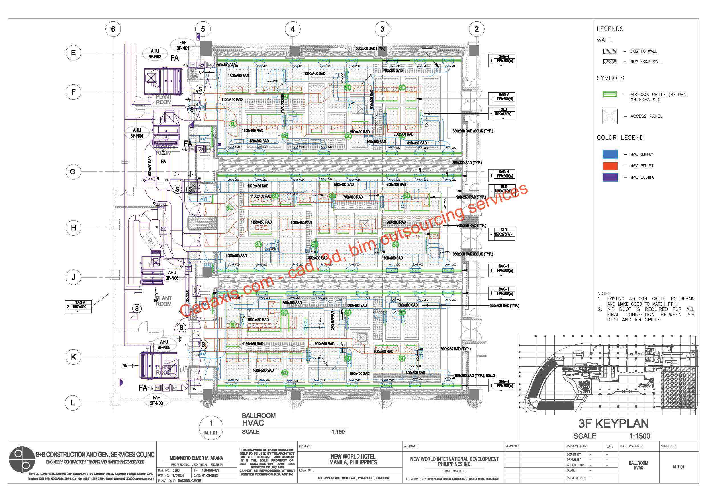 Cad 3d Bim Drafting Outsourcing Services Combined Hvac Drawings Pictures Creating